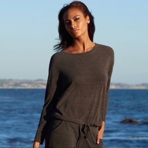 Barefoot Dreams Cozy Chic Slouchy Pullover in Grey